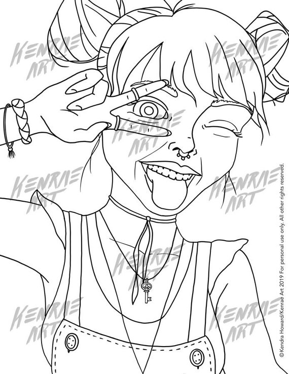 - INSTANT DOWNLOAD Peace Out Girl Scout Coloring Page Etsy