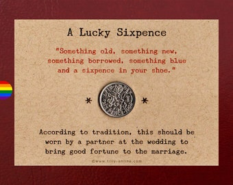 A Lucky Sixpence Gift for a Gay Wedding