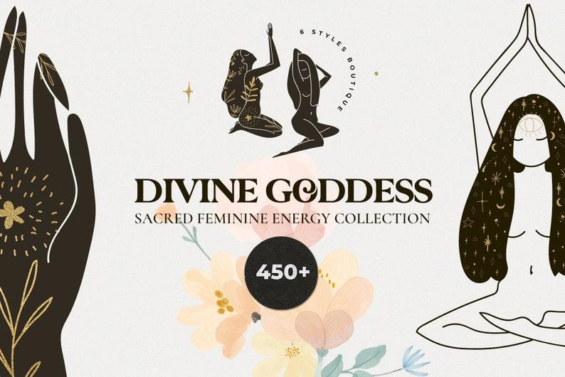 DIVINE GODDESS sacred feminine energy  Spirit set  Cosmic image 0
