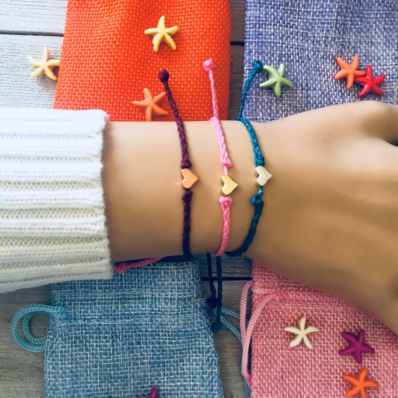 Heart bracelet love bracelet.Gift Bracelets,Mix and Match,Braided wish bracelet friendship bracelet adjustable bracelet dainty bracelet