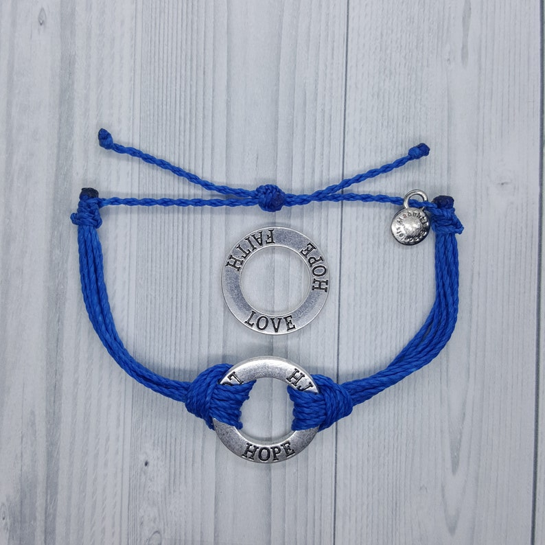 Ovarian Cancer Awareness Bracelet Non Braided By Mabuhay Bracelets Charm
