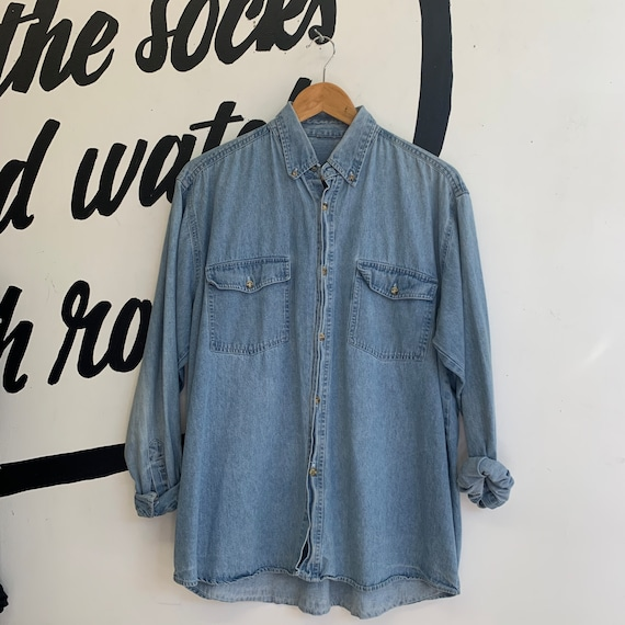 Vintage Deadstock Light Blue Denim Shirt