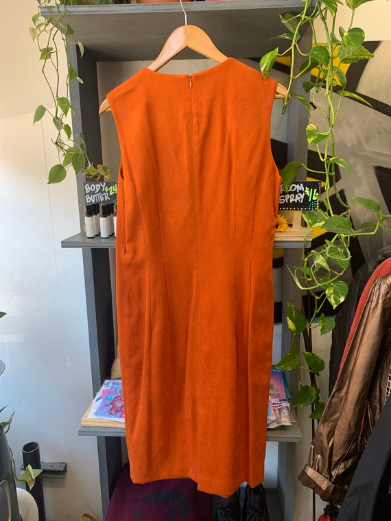 Vintage Deadstock Orange Sleeveless Dress