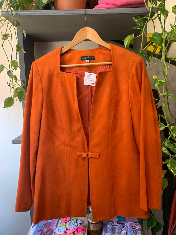 Vintage DEADSTOCK Orange Lined Blazer
