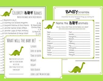 Dinosaur Baby Shower Games Etsy
