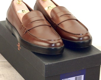 New * Allen Edmonds DRIGGS LOAFER 10.5 D Coffee * new Bags (add 15 new trees) orig price was 395