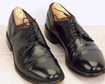 Allen Edmonds COLTON Black 9.5 B w/ new AE Shoe Trees  Bags Laces, Shoehorn, Box the original price was 395