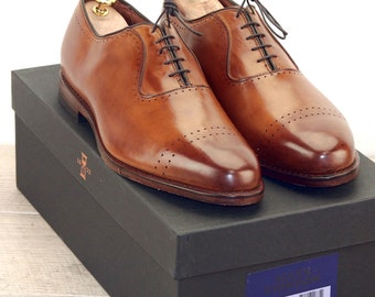 New * Allen Edmonds VERNON Walnut 11 EEE * new Bags (add 15 new trees) orig price was 395