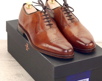 New * Allen Edmonds VERNON Walnut 8.5 EEE * new Bags (add 15 new trees) orig price was 395