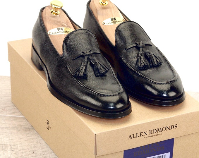 New * Allen Edmonds PERUGIA Black 8 D * new Bags (add 15 new trees) orig price was 395