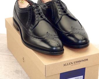 New * Allen Edmonds MCGREGOR Black 10.5 D * new Bags (add 15 new trees) orig price was 395