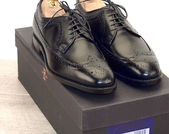 New * Allen Edmonds MCGREGOR Black 8 D * new Bags (add 15 new trees) orig price was 395