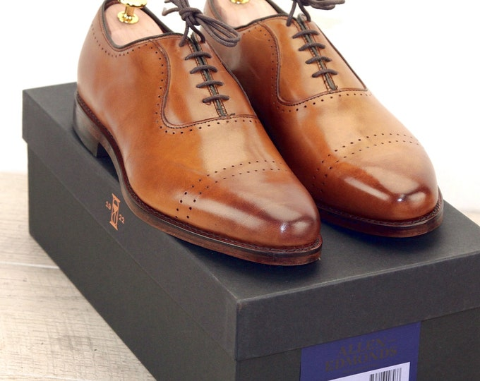 New * Allen Edmonds VERNON Walnut 9 D * new Bags (add 15 new trees) orig price was 395
