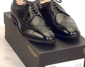 New * Allen Edmonds MCGREGOR Black 9.5 D * new Bags (add 15 new trees) orig price was 395