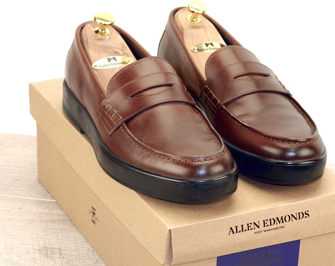 New * Allen Edmonds DRIGGS LOAFER 9 D Coffee * new Bags (add 15 new trees) orig price was 395