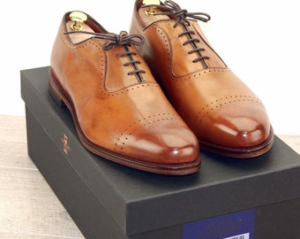 New * Allen Edmonds VERNON Walnut 10.5 D * new Bags (add 15 new trees) orig price was 395