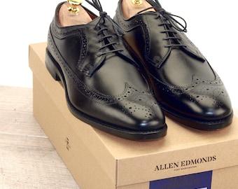 New * Allen Edmonds MCGREGOR Black 9 D * new Bags (add 15 new trees) orig price was 395