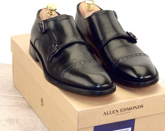 New * Allen Edmonds CARAVAGGIO ITALIAN 8.5 D Black * new Bags (add 15 new trees) orig price was 395