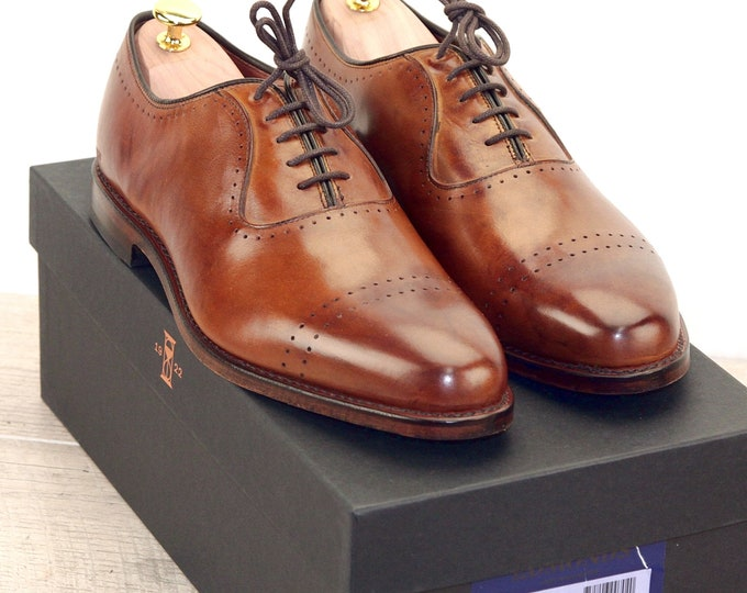 New * Allen Edmonds VERNON Walnut 9.5 D * new Bags (add 15 new trees) orig price was 395