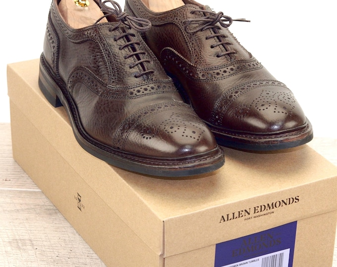 New * Allen Edmonds STRANDMOK Brown 9 D * new Bags (add 15 new trees) orig price was 395