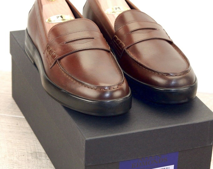 New * Allen Edmonds DRIGGS LOAFER 11 D Coffee * new Bags (add 15 new trees) orig price was 395
