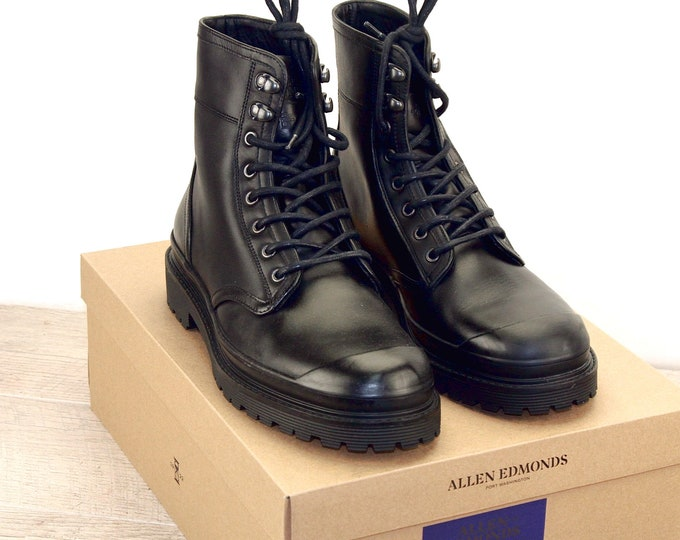 New * Allen Edmonds RANGER BOOT Black 9 D * new Bags (add 15 new trees) orig price was 395