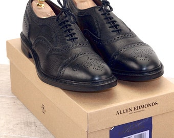 New * Allen Edmonds STRANDMOK Black 10.5 D * new Bags (add 15 new trees) orig price was 395