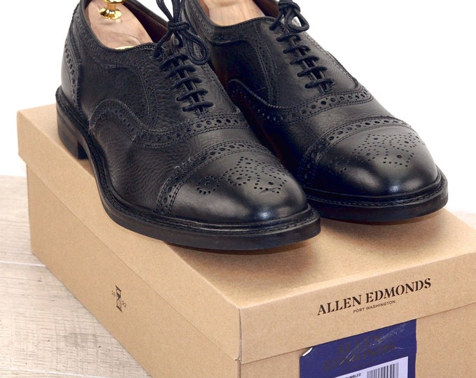 New * Allen Edmonds STRANDMOK Black 10.5 D * new Bags (add 15 new trees) orig price was 395