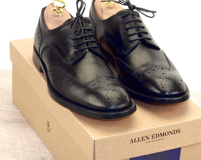 New * Allen Edmonds MODIGLIANI ITALIAN Black 8 D * new Bags (add 15 new trees) orig price was 395