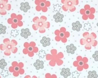 Sketched Girl Floral Flannel Precut Fabric Super Snuggle 1 Yard Precut Girls Children/'s Flannel Girl Flannel Floral Flannel
