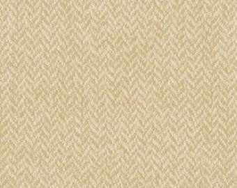 """Cream Herringbone Flannel Fabric By The Yard or Half Yards 100% Cotton """"Woolen Flannel"""" by Riley Blake fall winter holiday non-woven print"""