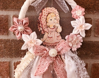 Decorative crown romantic style, little girl, hand made of 19x29 cm