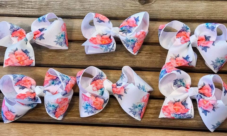 Beautiful  Floral Hair Bow with Clip