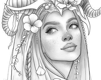 Girl Coloring Page Etsy