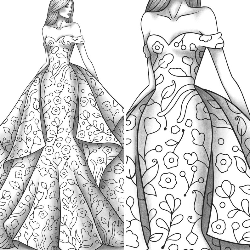 Adult coloring page fashion and clothes colouring sheet ...