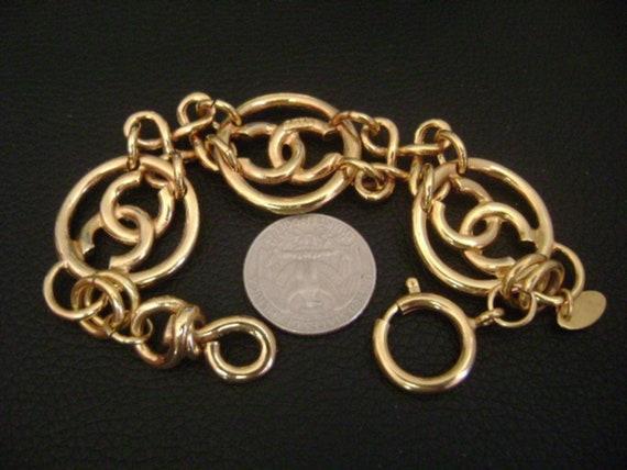 chanel vintage cc Link Bracelet - image 5