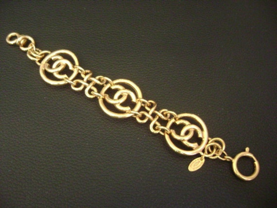 chanel vintage cc Link Bracelet - image 6