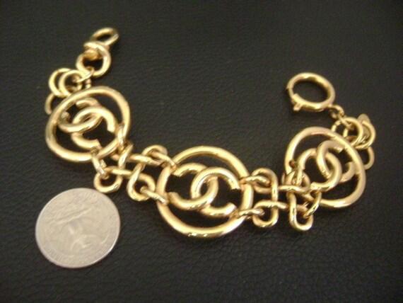 chanel vintage cc Link Bracelet - image 4