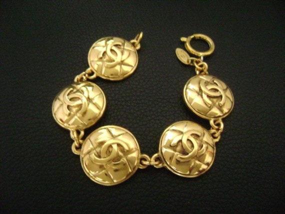 Chanel vintage CC logo bracelet