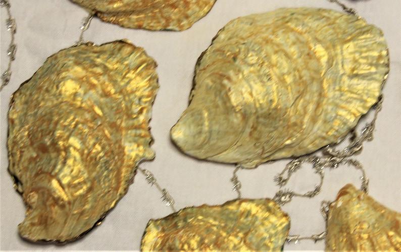 Decoupage Oyster Shells Jewelry Dish Gold Edge Seashell OYSTER RING Dish Decoupage Seashell Gold Edge Oyster Shell Ring Dish