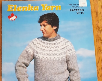 d874d6aab6143c White Buffalo Mills Elenka Yarn His or Hers PulloverKnitting Pattern Leaflet  No. 2015
