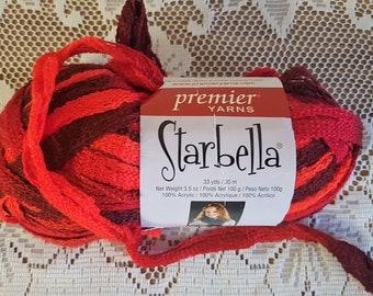 Starbella yarn red | Etsy
