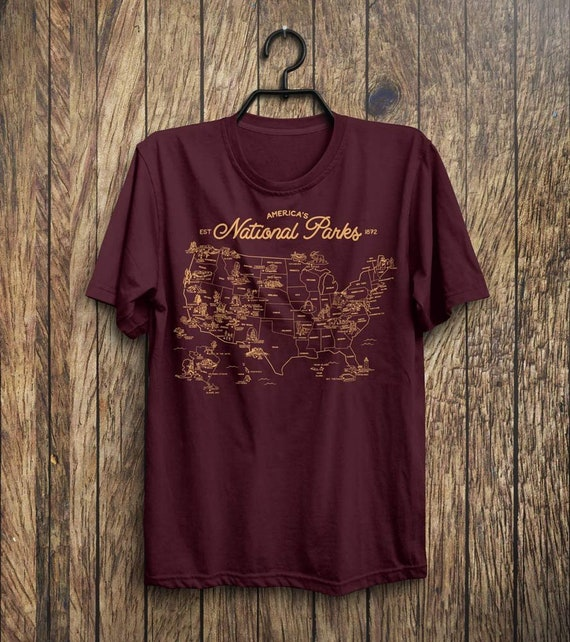 National Parks Unisex Shirt   National Parks Tee, Parks List Shirt by Etsy