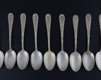 STIEFF QUEEN ANNE STERLING  BABY CURVED HANDLE SPOON