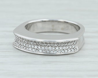 acf7a0fa4417 Movado .20ctw Diamond Stackable Statement Ring - 18k White Gold Size 6.75