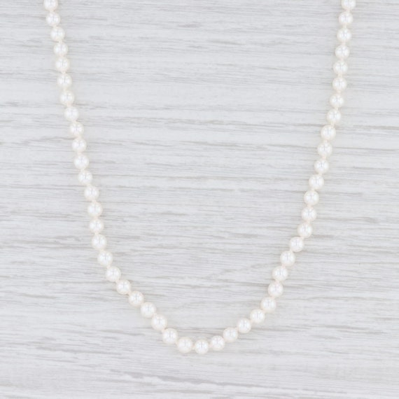 "Pearl Strand Necklace, 18.5"" Necklace, Gold Clasp"