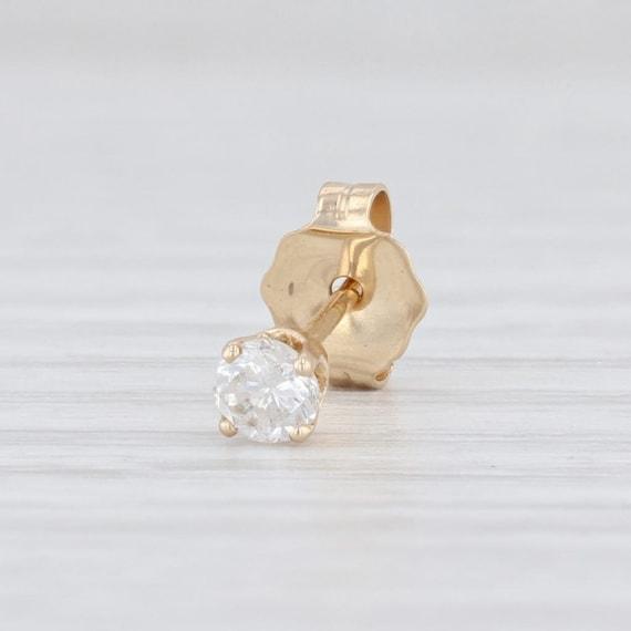 SINGLE Stud Earring, Diamond Stud Earring, Yellow