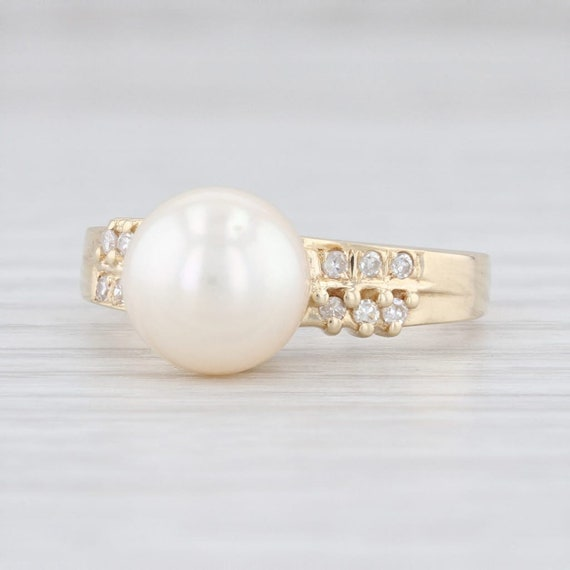 Saltwater Pearl Ring, Cultured Pearl Ring, Pearl &