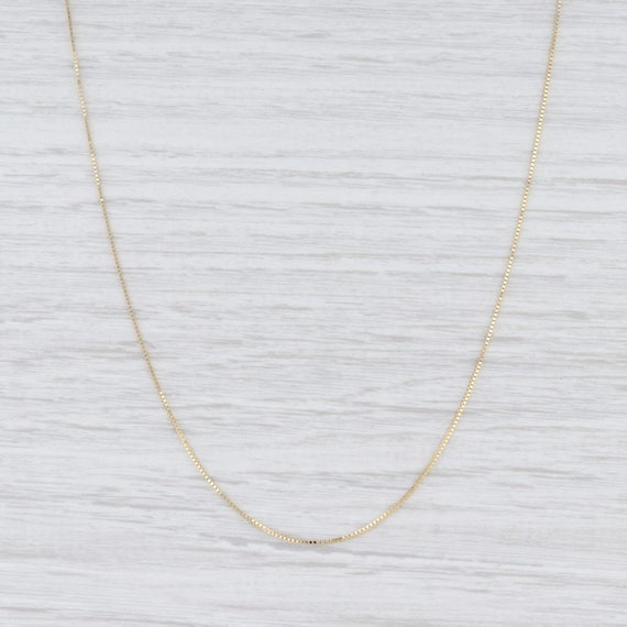"Box Chain Necklace, Yellow Gold Chain, 20"" Chain N"