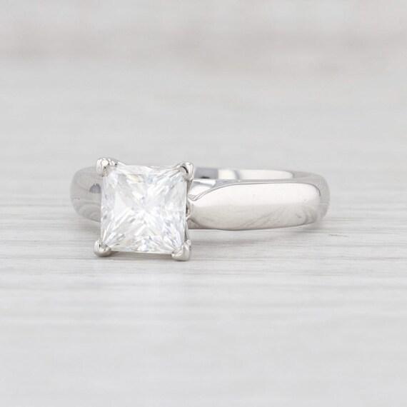 SALE Platinum 950 Diamond Ring Band Vintage Solitaire Engagement Size K 5.25